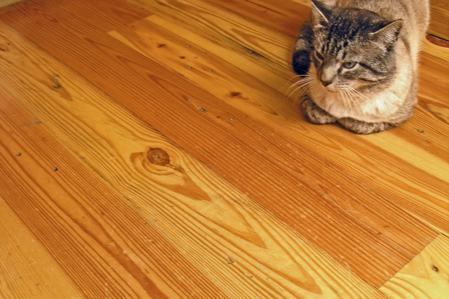 Southern Yellow Pine T&G Flooring rustic
