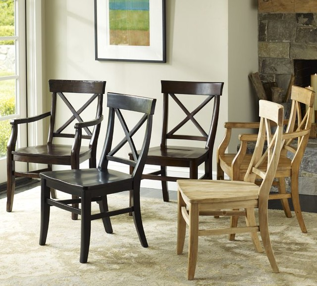 Aaron Wood Seat Chair Traditional Dining Chairs