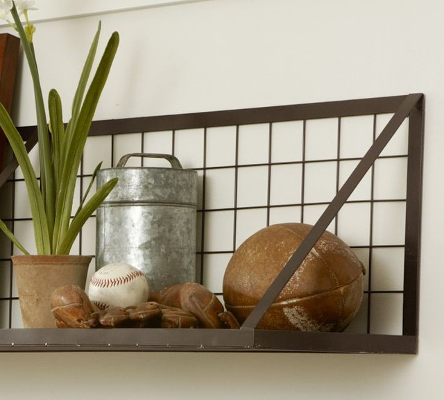 Kellan Wall-Mount Shelf - Industrial - Display And Wall Shelves - by Pottery Barn