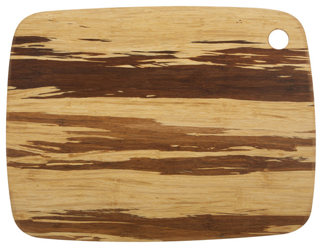 Large Crushed Bamboo Cutting Board modern-cutting-boards
