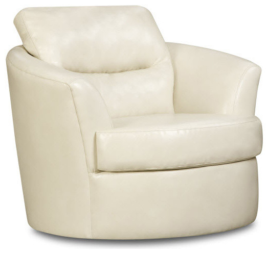 Global U9500ac Swivel Chair In Cream Leather Traditional