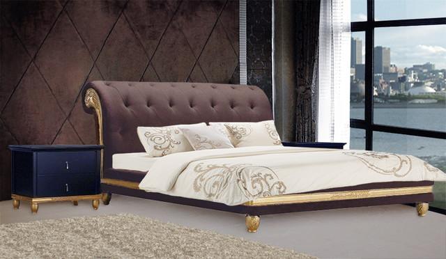 Dolciana Velvet Luxury Bed King Size Modern Beds