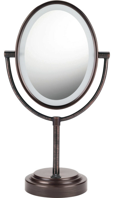 Conair Double Sided Lighted Oval Mirror Oiled Bronze