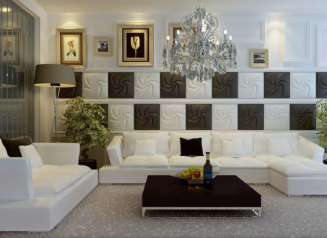 Leather Tile Panels from Royal Stone and Tile in Los Angeles contemporary-home-decor