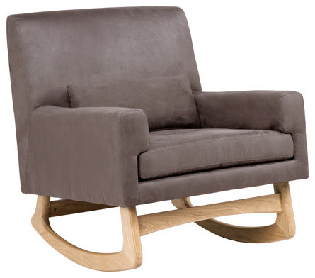 Nurseryworks Sleepytime Rocker, Micro-Suede Slate With White Ash Finish modern-rocking-chairs-and-gliders