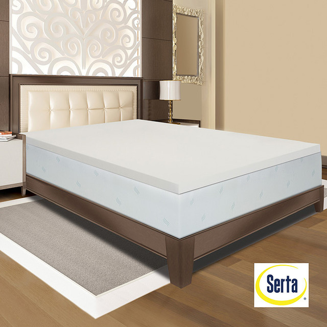 Serta Memory Foam 3 inch Mattress Topper Contemporary