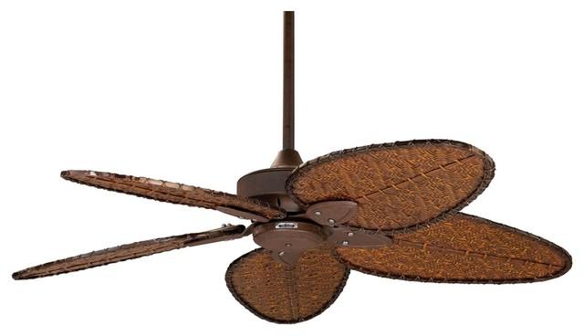 """Asian 52"""" Fanimation Windpointe Rust Outdoor Ceiling Fan tropical-ceiling-fans"""