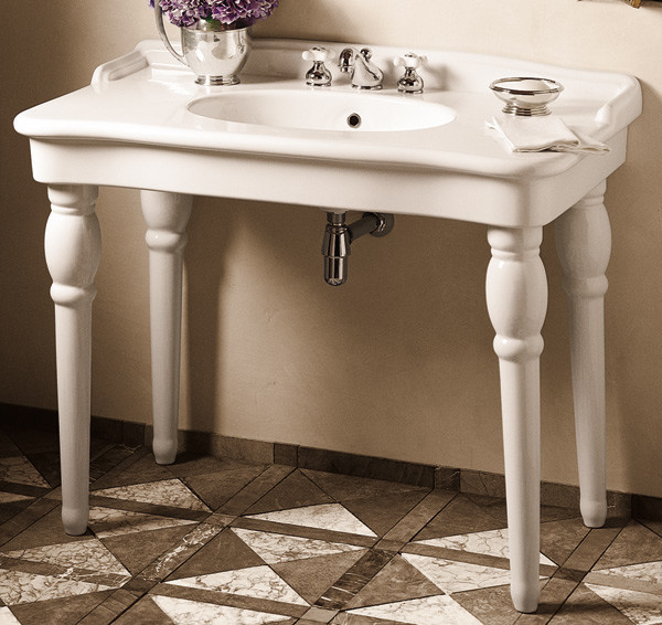 sonnet sink console traditional bathroom vanities and sink consoles