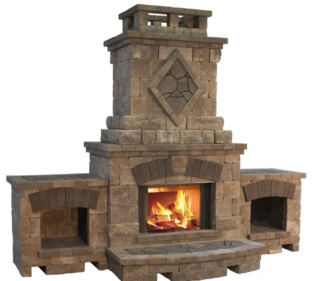 Bristol Fireplace from the Belgard Elements Collection ...