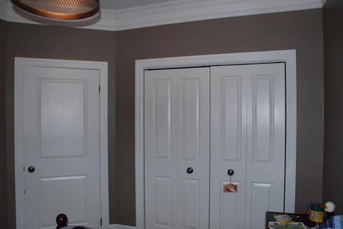 closet height 9 foot but closet door 6 foot 8 please help with reno. Black Bedroom Furniture Sets. Home Design Ideas