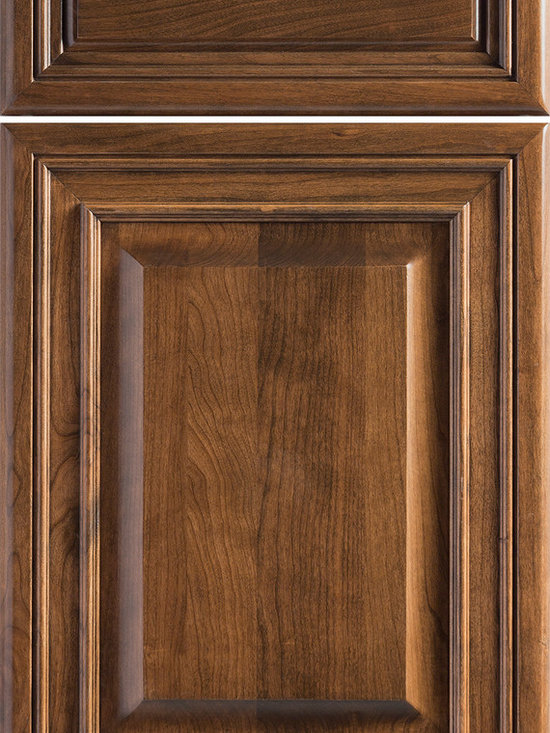 """Dura Supreme Cabinetry - Dura Supreme Cabinetry Valencia Classic Cabinet Door Style - Dura Supreme Cabinetry """"Valencia Classic"""" cabinet door style in Maple shown with Dura Supreme's """"Ginger"""" with """"Coffee"""" Glaze finish."""