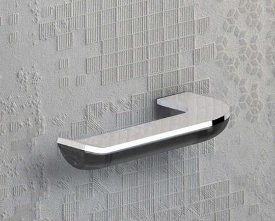 Anthracite And Chrome Unique Horizontal Toilet Paper Holder Contemporary Toilet Paper
