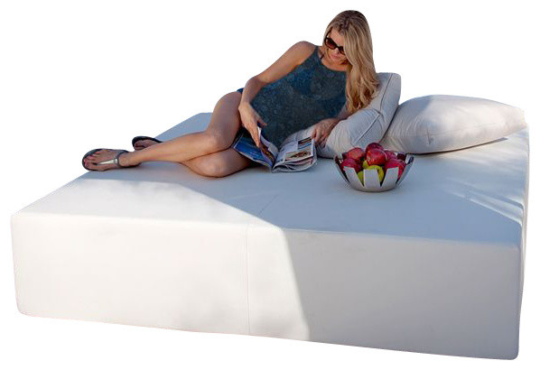 Play Pad Outdoor Daybed, 7' Square contemporary-outdoor-chaise-lounges