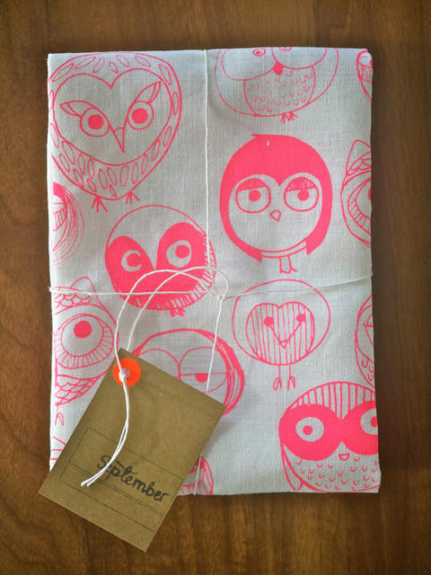 MOCHO Owl Printed Teatowel by September Designs eclectic dishtowels
