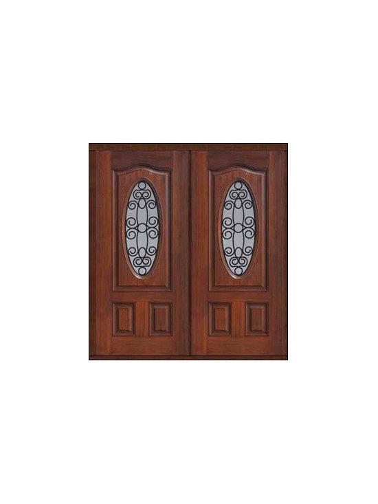 """Prehung Double Door 80 Fiberglass Genoa Eyebrow Oval Lite GBG Glass - SKU#MCT022WG_DFOGG2BrandGlassCraftDoor TypeExteriorManufacturer CollectionOval Lite Entry DoorsDoor ModelGenoaDoor MaterialFiberglassWoodgrainVeneerPrice2840Door Size Options2(32"""")[5'-4""""]  $02(36"""")[6'-0""""]  $0Core TypeDoor StyleDoor Lite StyleOval LiteDoor Panel StyleEyebrowHome Style MatchingDoor ConstructionPrehanging OptionsPrehungPrehung ConfigurationDouble DoorDoor Thickness (Inches)1.75Glass Thickness (Inches)Glass TypeDouble GlazedGlass CamingGlass FeaturesTempered glassGlass StyleGlass TextureGlass ObscurityDoor FeaturesDoor ApprovalsEnergy Star , TCEQ , Wind-load Rated , AMD , NFRC-IG , IRC , NFRC-Safety GlassDoor FinishesDoor AccessoriesWeight (lbs)603Crating Size25"""" (w)x 108"""" (l)x 52"""" (h)Lead TimeSlab Doors: 7 Business DaysPrehung:14 Business DaysPrefinished, PreHung:21 Business DaysWarrantyFive (5) years limited warranty for the Fiberglass FinishThree (3) years limited warranty for MasterGrain Door Panel"""
