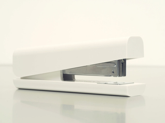 Anything stapler white modern desk accessories by for Modern office decor accessories