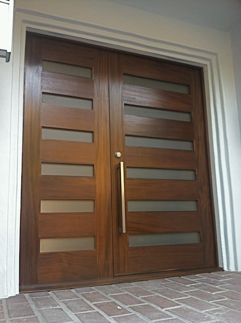 Entry Doors - Modern - Front Doors - other metro - by Tungsten Royce Custom Wood Products