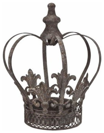 Decorative metal crown traditional home decor denver for Crown decorations home