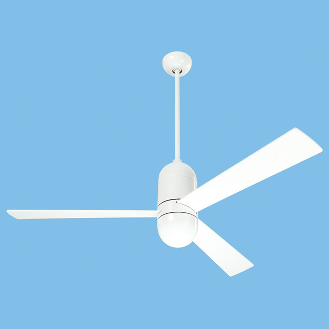 Modern fan cirrus white fan modern ceiling fans by Modern white ceiling fan