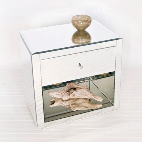 Art Deco Mirrored Furniture - modern - side tables and accent