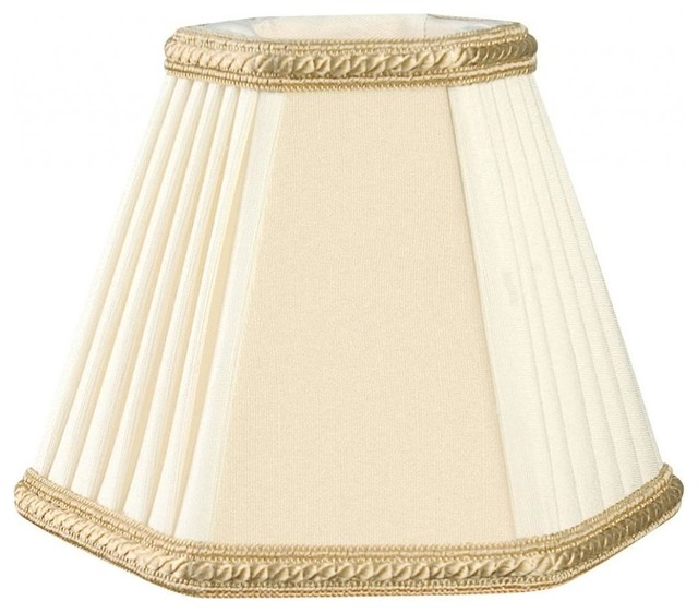 Decorative Lamp Shades : Decorative trim hexagon empire chandelier lampshade