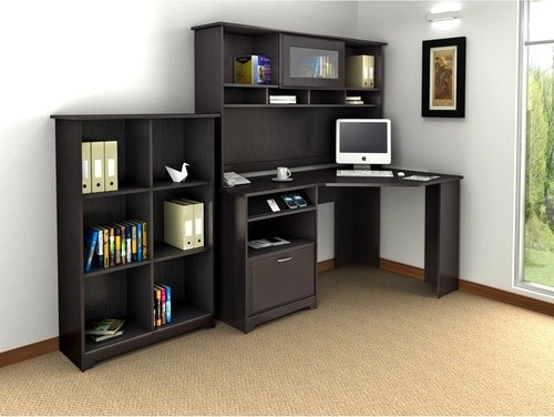 cabot corner desk with hutch and bookcase modern home
