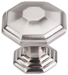 Chalet Knob, Brushed Satin Nickel modern-cabinet-and-drawer-knobs