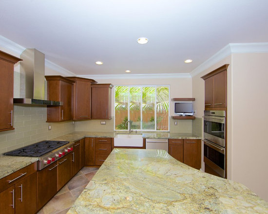 Slab Wood Door Cabinets Design Ideas, Pictures, Remodel and Decor