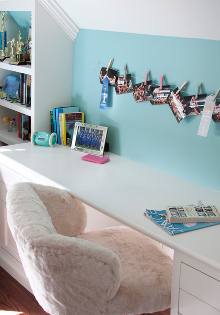 pink and aqua teen bedroom contemporary los angeles by annette tatum. Black Bedroom Furniture Sets. Home Design Ideas