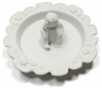 White Monkey Ring Dish eclectic-bath-and-spa-accessories