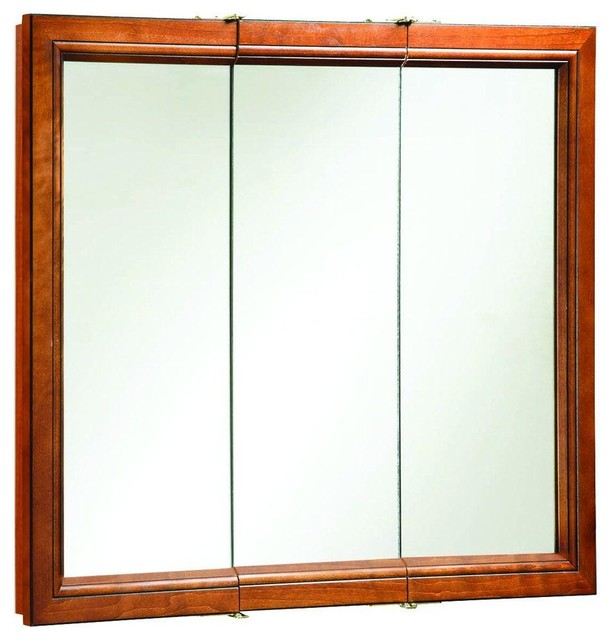 Design House Cabinets Montclair 36 in. x 30 in. Surface-Mount Tri-View Medicine - Contemporary ...