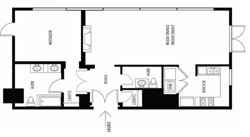 Convert 1br 1 5ba to 2br your opinion for 10x11 room layout