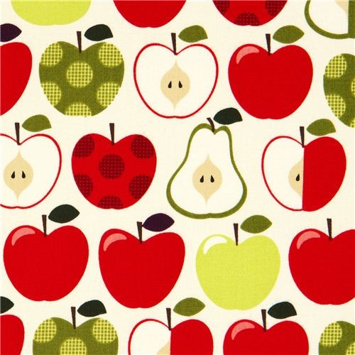 Cream Apples And Pears Fabric By Timeless Treasures Usa