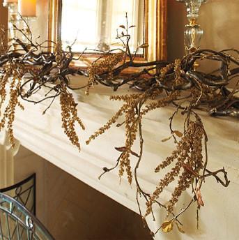 Manzanita Garland traditional-wreaths-and-garlands