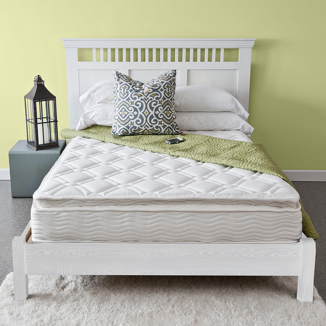 Priage Pillow Top 10 Inch Twin Size Icoil Spring Mattress Contemporary Mattresses By