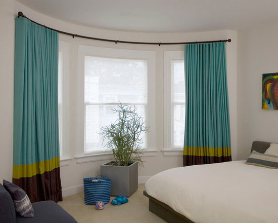bow curved and bay window coverings solutions. Black Bedroom Furniture Sets. Home Design Ideas