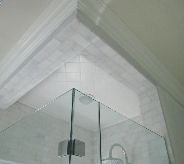 Carrera Marble Subway Tile Bathroom