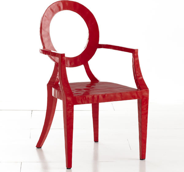 Updated Louis Chair, Red modern chairs