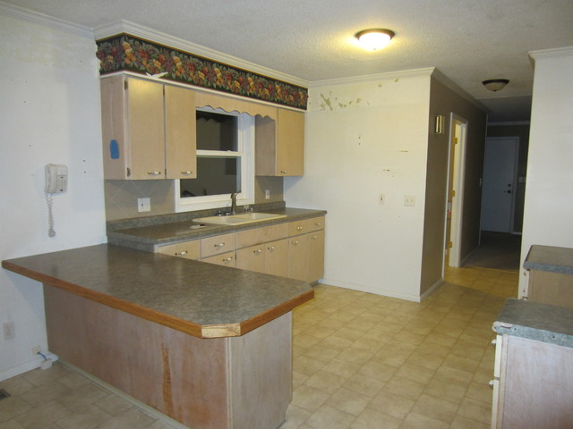 Before picture of small and confining kitchen modern-kitchen