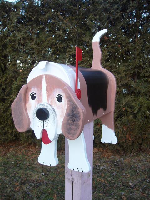 Decorative Beagle mailboxes modern-mailboxes