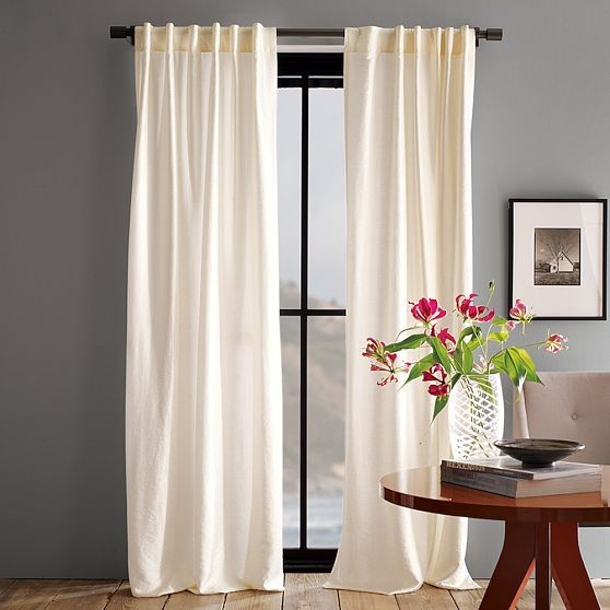 Luxe window panel modern curtains by west elm for West elm window treatments