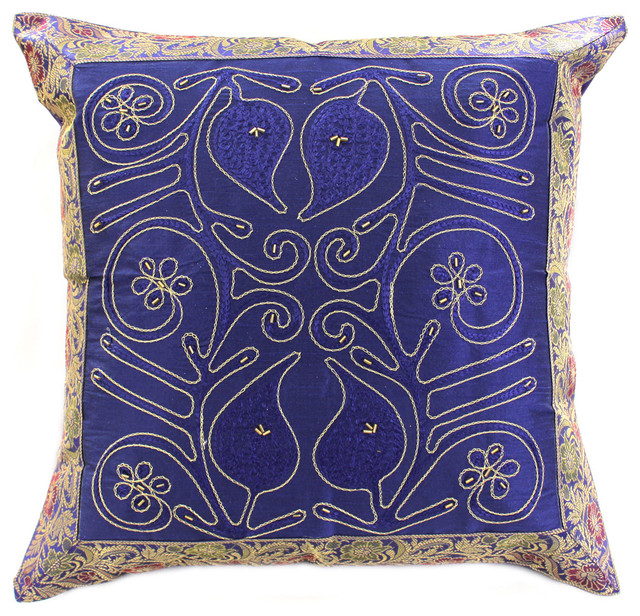 Decorative Pillows Tropical : Decorative Pillow Covers - Tropical - Decorative Pillows - boston - by Banarsi Designs