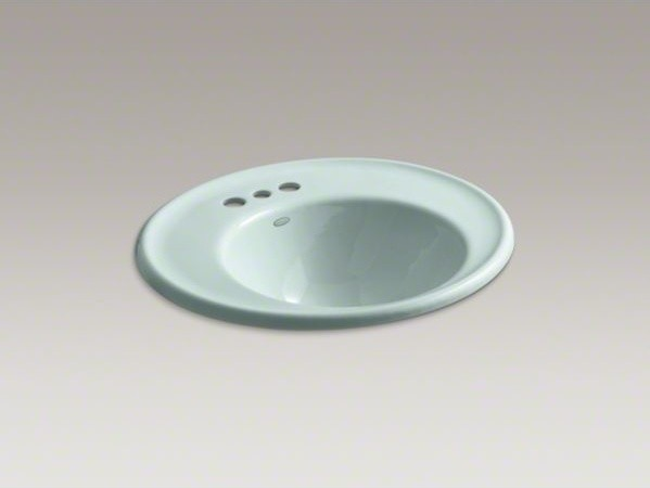 """KOHLER Iron Works(R) wall-mount bathroom sink with 4"""" centerset faucet holes and contemporary-bathroom-sinks"""