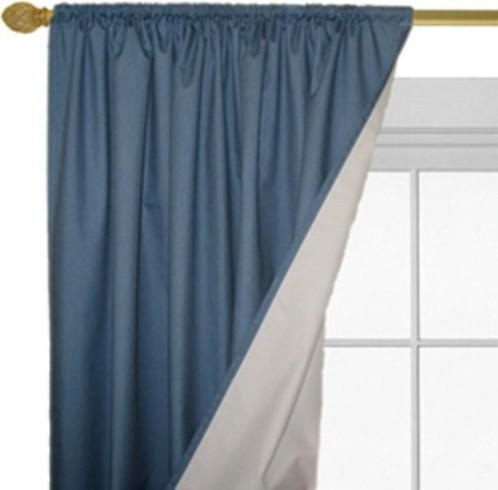 Roc-Lon Magnetic Closure Denimtone Blackout Curtain Panel - One Pair contemporary-curtains