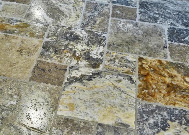 Travertine Onyx Slabs : Mocha onyx travertine roman pattern wall and floor tile