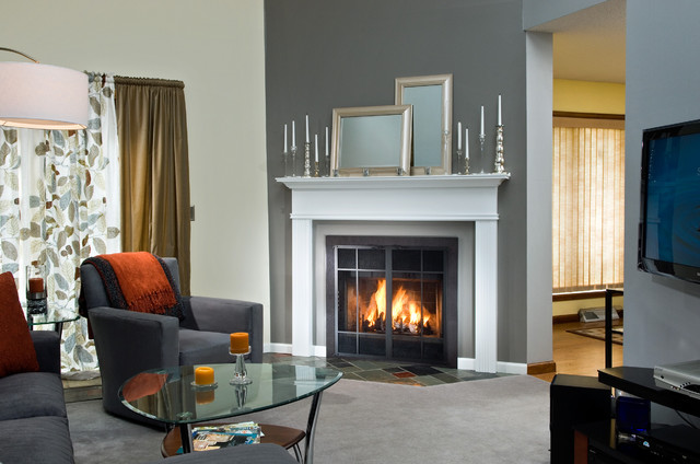Prefabricated Fireplace After photo - Fansler Fireplace traditional-fireplace-accessories