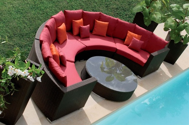 Quebec 5-Pieced Patio Sectional  outdoor sofas