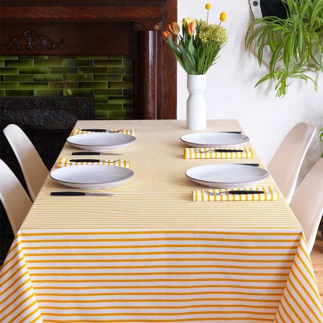Sailor Mustard Tablecloth - Modern - Tablecloths