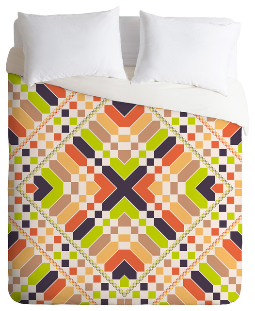 Budi Kwan Retrographic Picnic Queen Duvet Cover contemporary-duvet-covers-and-duvet-sets