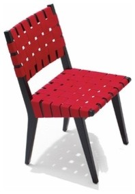 Knoll | Risom Side Chair with Webbed Back and Seat modern-living-room-chairs